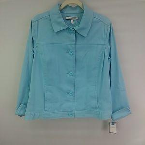 NWT Women's Croft & Barrow Blue Blazer size Large